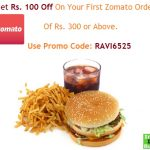how to use zomato first order 100 off, zomato first order promo code